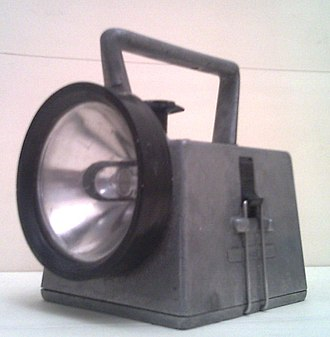 Bardic lamp - 3/4 front-left view of British Rail Bardic hand-lamp