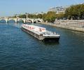 Barge on River Seine in Paris France.png