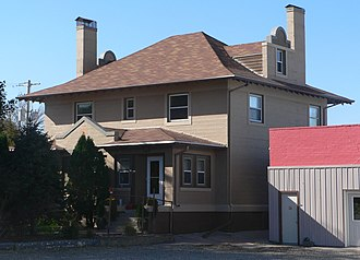 National Register of Historic Places listings in Tripp County, South Dakota - Image: Barnum house (Winner, SD) from NE 2
