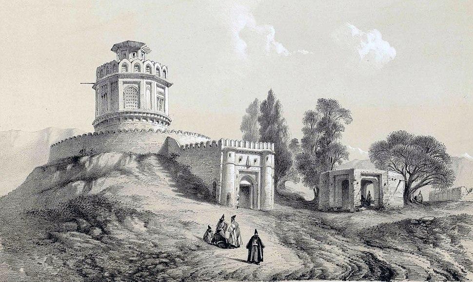 Barout khaneh near Tehran by Eugène Flandin