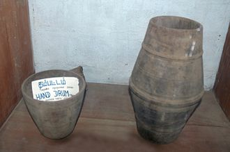 Hand drum - Ancient hand drum without leathers at archaeological museum of Jaffna, Sri Lanka.
