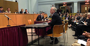 Michael J. Barrett - Senator Barrett testifies at a committee hearing.