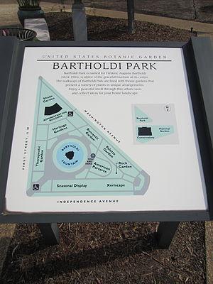 Bartholdi Park - Image: Bartholdi Park sign, United States Botanic Garden, Washington, D.C. 2012