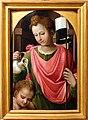 Bartolomeo neroni, teste di bara dalla compagnia di s. ansano, 1569 (siena, diocesano), sant'ansano battezza.jpg