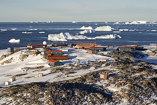 Antarctic base in Archipelago of Pointe-Géologie, France