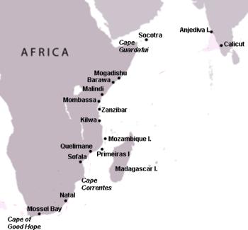malindi africa map