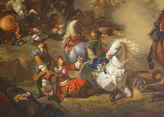 Louis, Grand Condé - The Duke of Enghien saving his father, the Grand Condé at the battle of Seneffe