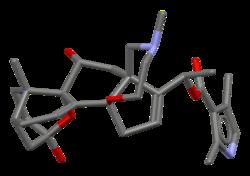 Stick model of the batrachotoxin molecule