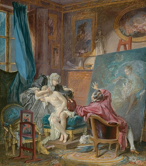 Baudouin, Pierre Antoine - The Honest Model - 1769