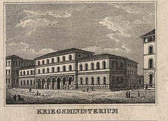 Ministry of War (Kingdom of Bavaria) - Bavarian Ministry of War in Munich, 1833