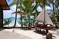 Beachfront bar entrance, Hotel Kou-Bugny, Isle of Pines, New Caledonia, 2007.JPG