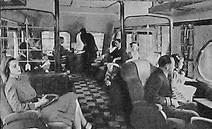 Beaver Tail (railcar) - Image: Beaver Tail observation car interior