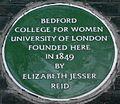 Bedford College Bedford Square blue plaque.jpg