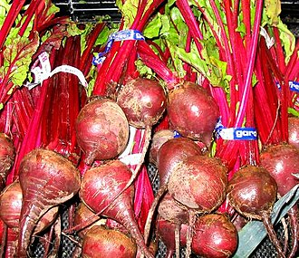 Betalain - The red color of beets comes from betalain pigments.
