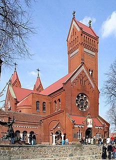 Church of Saints Simon and Helena church building in Minsk, Belarus