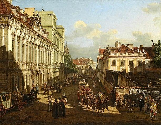 Rue Miodowa à Varsovie par Bellotto (Canaletto)