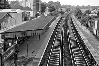 Belmont railway station (Sutton) - The station in 1961