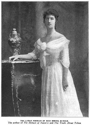 Bertha Runkle - Portrait of Bertha Runkle in The Bookman 1906