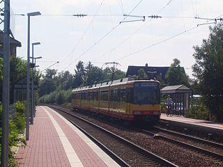 Untergrombach station railway station in Bruchsal, Germany