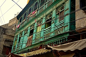 Bhati Gate - The neighbourhood inside the gate features colonial and Sikh era architecture