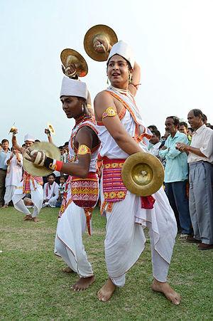 Folk dances of Assam - Bhortal Dance