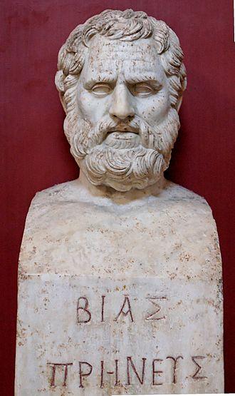 Bias of Priene - Hermaic pillar representing Bias of Priene, Vatican Museums
