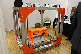 3D printing processes - The BigRep One.1 with its 1 m³ volume.