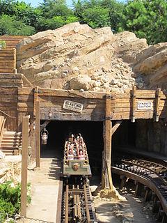 Roller coaster at Hong Kong Disneyland