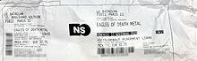 Particolare di un biglietto di ingresso del Bataclan per il concerto degli Eagles of Death Metal del 13 novembre 2015