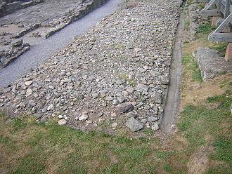 Vinovia - Roman road at Binchester.
