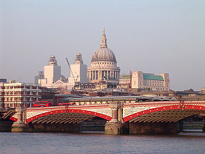 Blackfriars Bridge - Blackfriars Bridge with St Paul's Cathedral behind