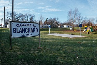 Blanchard, Iowa - Image: Blanchard, IA