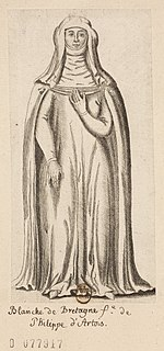 Blanche of Brittany daughter of John II, Duke of Brittany, and his wife Beatrice of England, wife of Philip of Artois