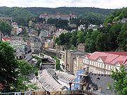 Вид с верхней террасы гостиницы Термал