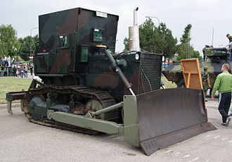 Armored bulldozer - Armored bulldozer of Serbian armed forces