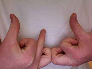 A gang sign of the Bloods