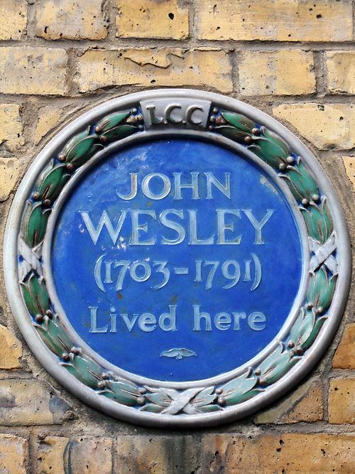 Blue plaque   john wesley 01