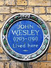 Blue plaque   john wesley 01