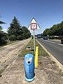 Blue fire hydrant - Reyrieux, Ain, France - 1.JPG