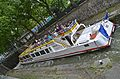 Boat below new water line, Paris 29 May 2014.jpg