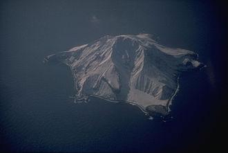 Bobrof Island - Bobrof Island and the volcano