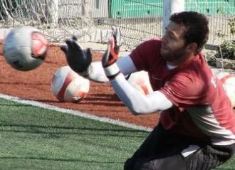 Bogdan Lobonț - Lobonț training in 2007.