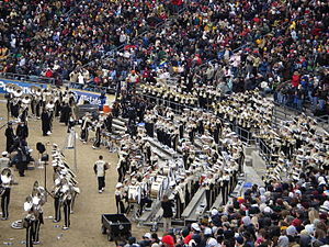 Purdue Boilermakers - The Purdue All-American Marching Band perform Hail Purdue at the 2008 Purdue-Indiana football game.