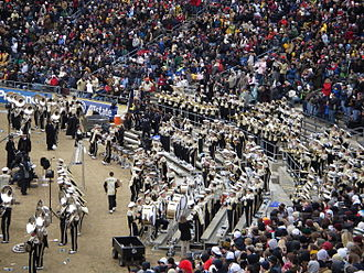 Hail Purdue! - The Purdue All-American Marching Band perform Hail Purdue at the 2008 Purdue-Indiana football game.