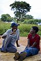 Boniface Mzembi talks to a mentor from a local community based organisation that is supported by UNICEF, near Chimteka, Malawe on the 15th April, 2009. (10677556013).jpg