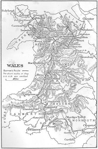 Wild Wales - Borrow's route through Wales