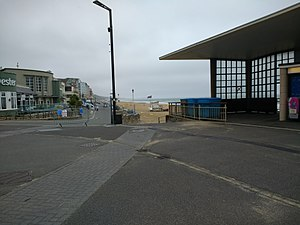 Boscombe - View near the entrance to the pier, looking towards the beach in the direction of Southbourne