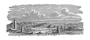 Boskednan stone circle - Illustration by William Copeland Borlase 1872
