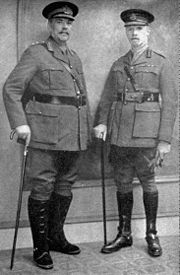 During the First World War, Smuts (right) and Botha were key members of the British Army.