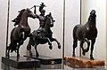 Bottega di pietro tacca, cavallo e guerriero a cavallo, e cavallo ricciuto della bottega del giambologna, 1600-50 ca.jpg